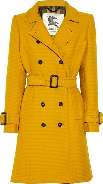 BURBERRY Ribbed Cotton and Wool-blend Trench Coat