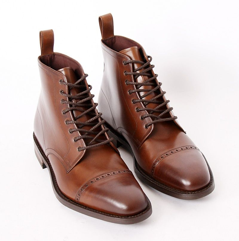 d942aab5422 Hyde Dark Brown Calf Derby boots Loake - Fashionisland.se | Style ...