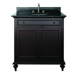 Avanity Merlot 25 In X 22 In Espresso Undermount Single Sink