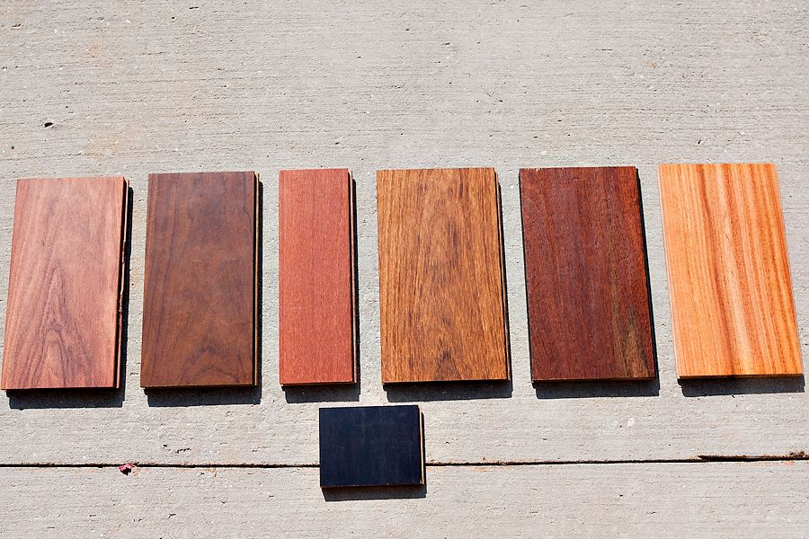 Wood Floor Samples From Left To Right Angico Vermelho