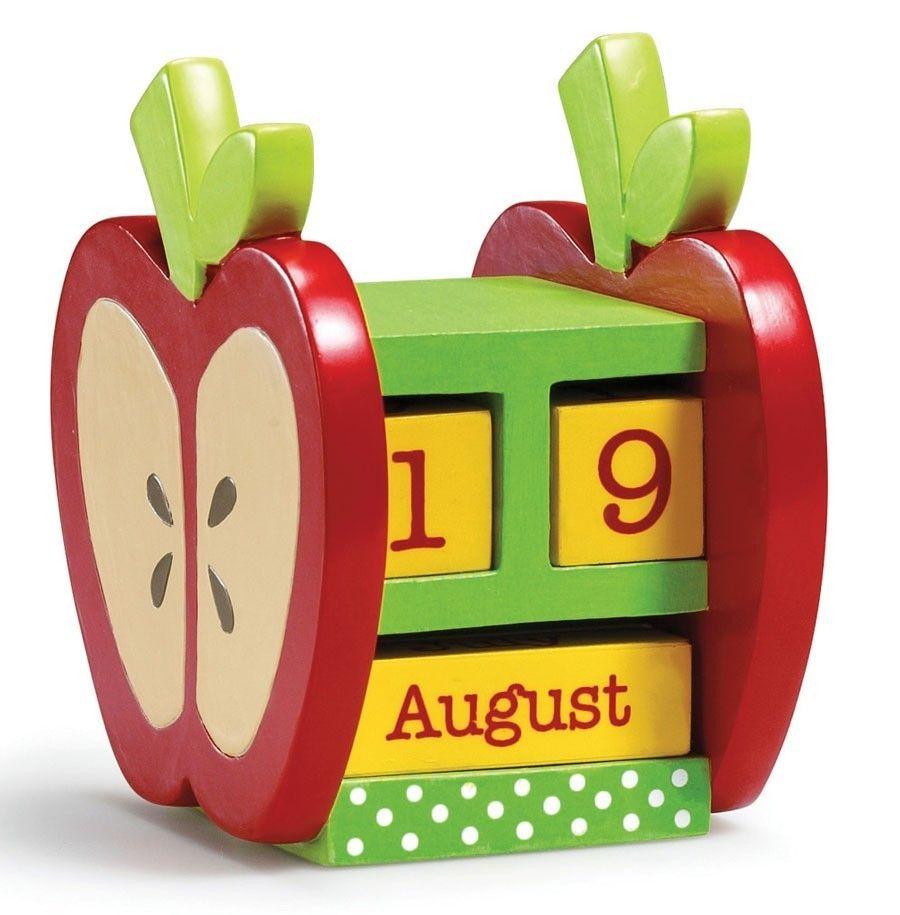 Apple Desk Calender Calendario de madera, Calendarios