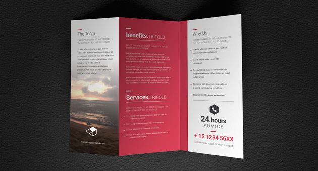 Doma Tri Fold Brochure Template Mock Ups Pinterest Brochure