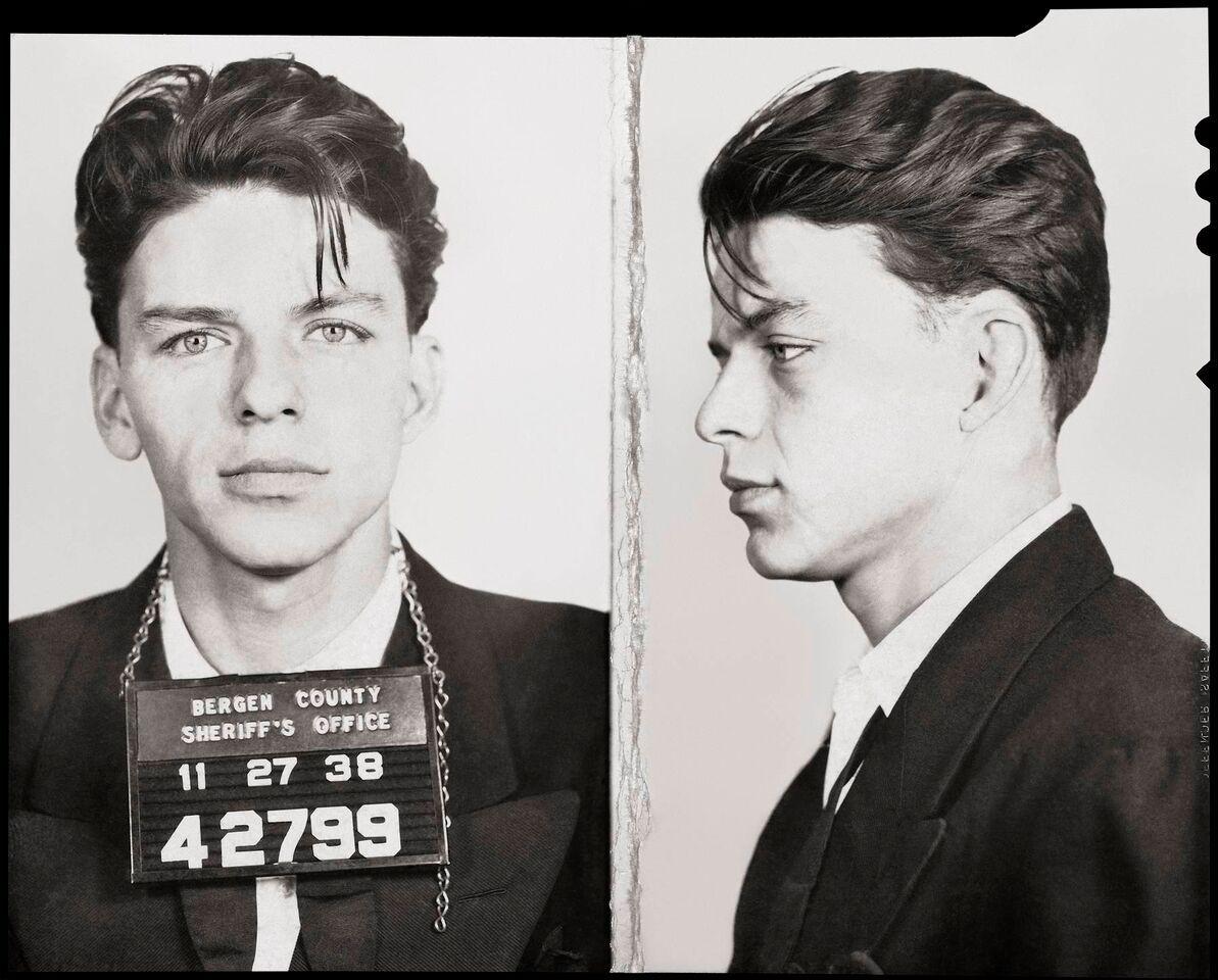 Frank Sinatra mugshot, 1938. Arrested for flirting in Bergen County ...