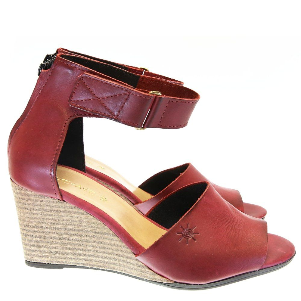 Sandália Anabela Vinho 1158 Aye Aye   Moselle sapatos finos femininos! Moselle sua boutique online.