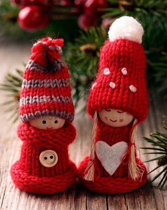 Check Out 21 Cute Knitted Christmas Decorations Ideas. - Pin By Petya Glavcheva On Christmas Christmas Knitting, Christmas