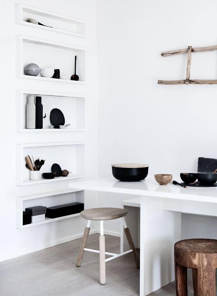 these shelves Kitchens Pinterest Minimalistisch wohnen - schöner wohnen küchen