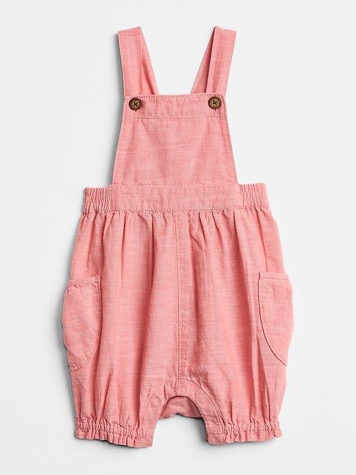 a7a5402e8f0 Gap Baby Denim Bubble Overalls Pink Treat