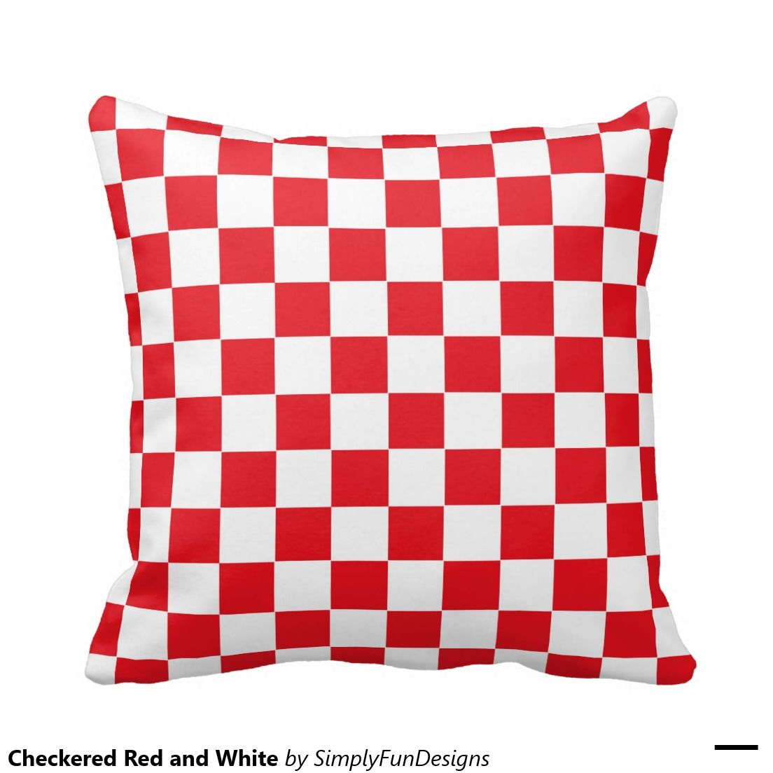 Checkered Red and White Pillows