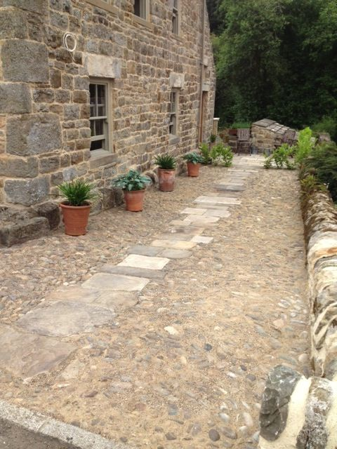 Flagstone and cobble detail from Clothshed http://theclothshed.blogspot.co.uk