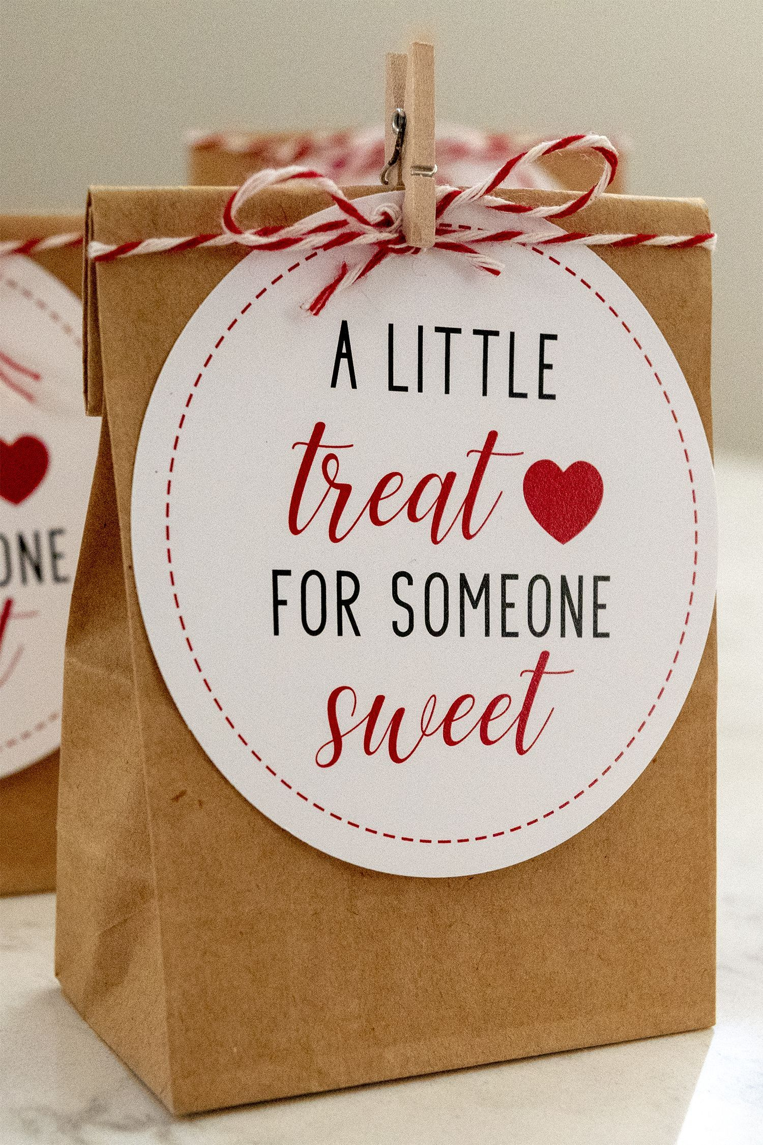 Free Printable A Little Treat For Someone Sweet Tags For Valentine S Day Use To Give Valentines Printables Free Printable Valentine Gift Valentines Printables