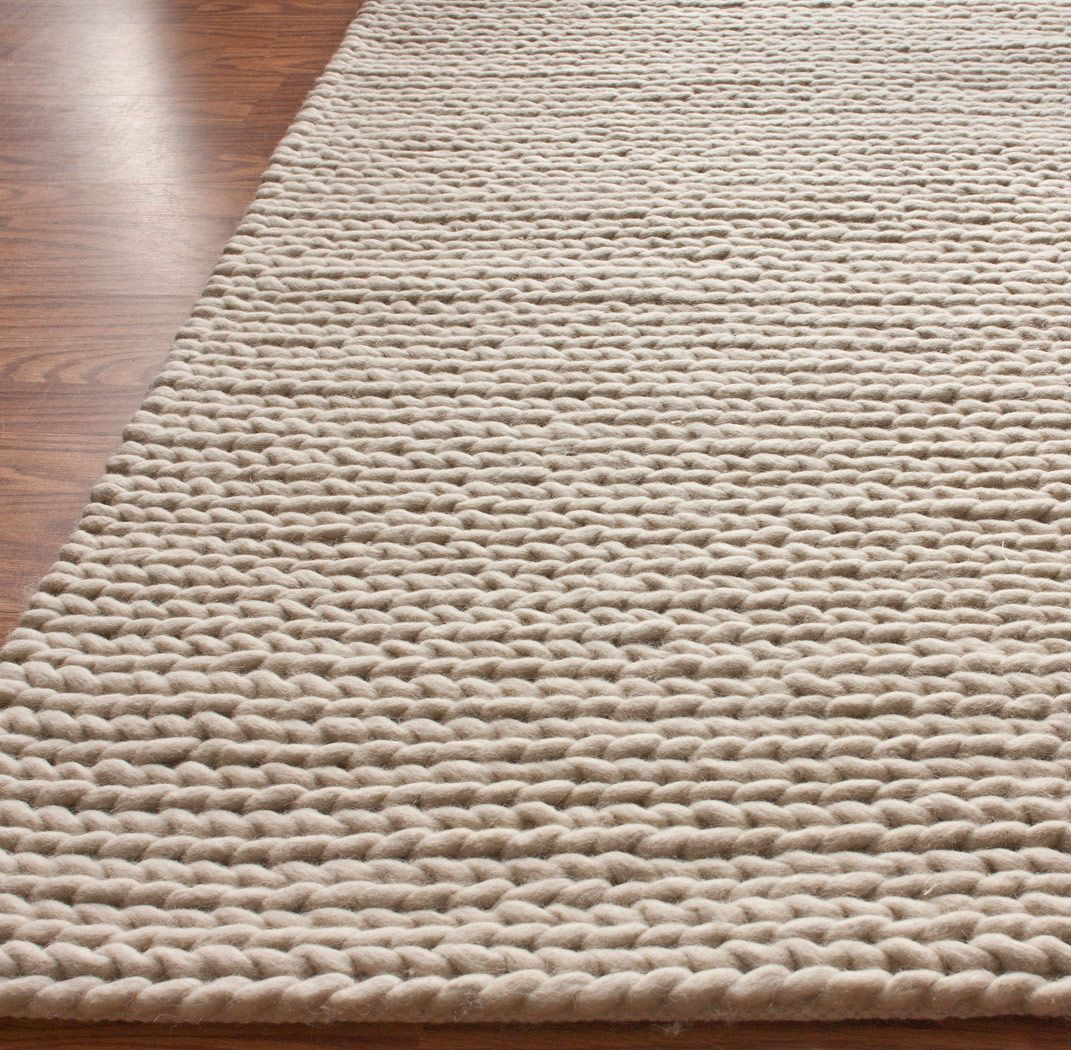 Modernrugs Com Chunky Cable Knit Hand Woven Felted Wool Modern Rug
