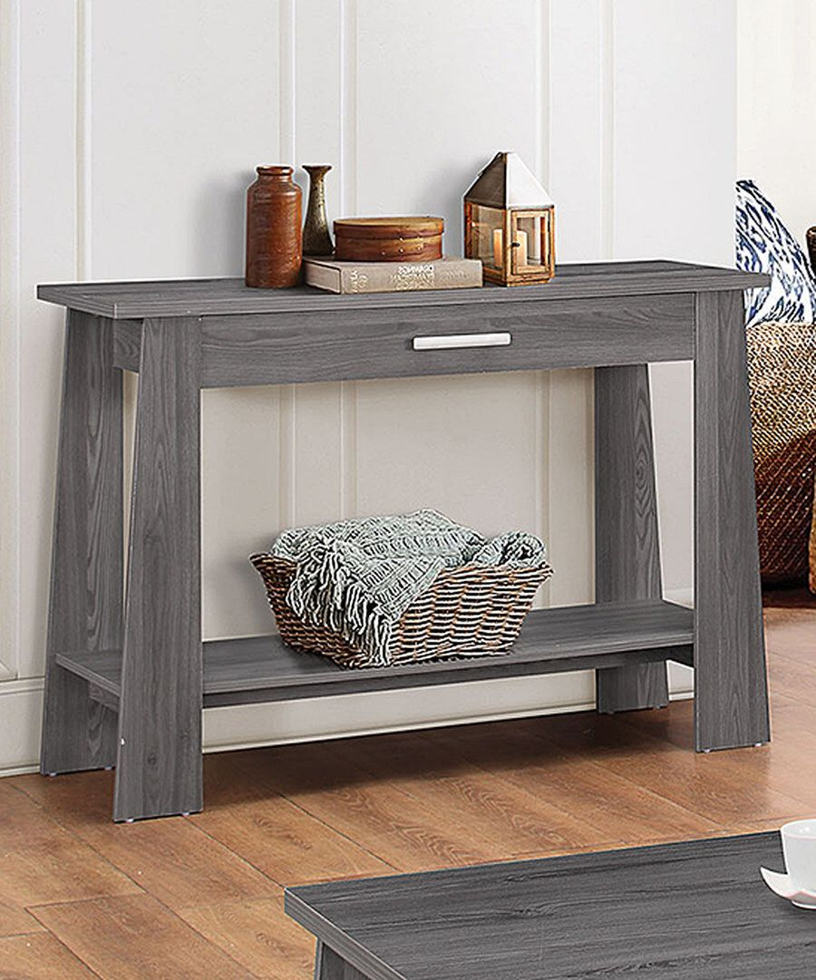Look At This Acme Furniture Inc Dark Gray Falan Sofa Table On Zulily Today Wood Sofa Table Furniture Sofa Table