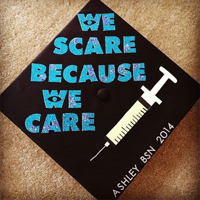 Nursing School Monsters Inc Graduation Cap