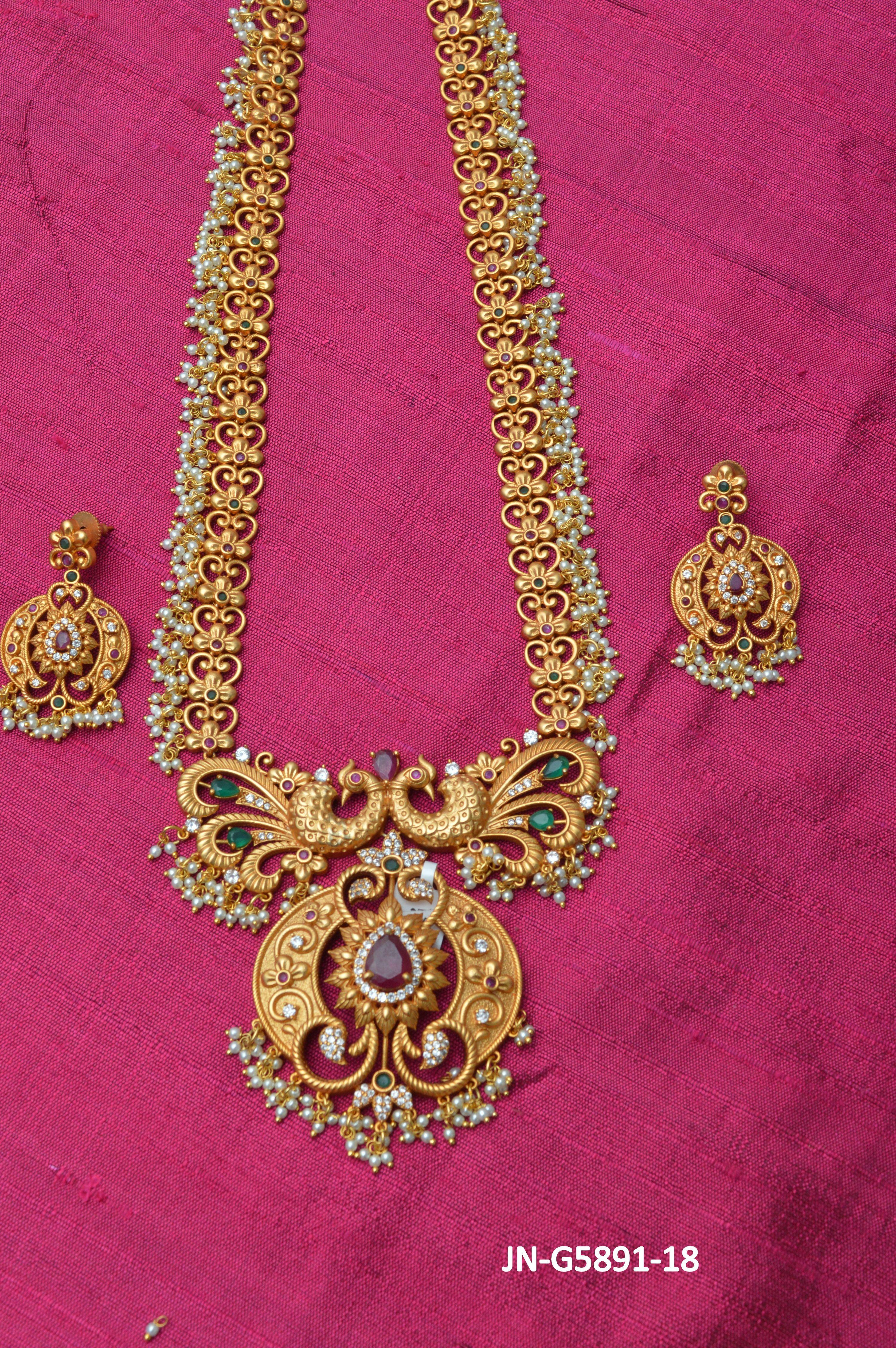 1 Gram Gold Matte Finish Jewellery