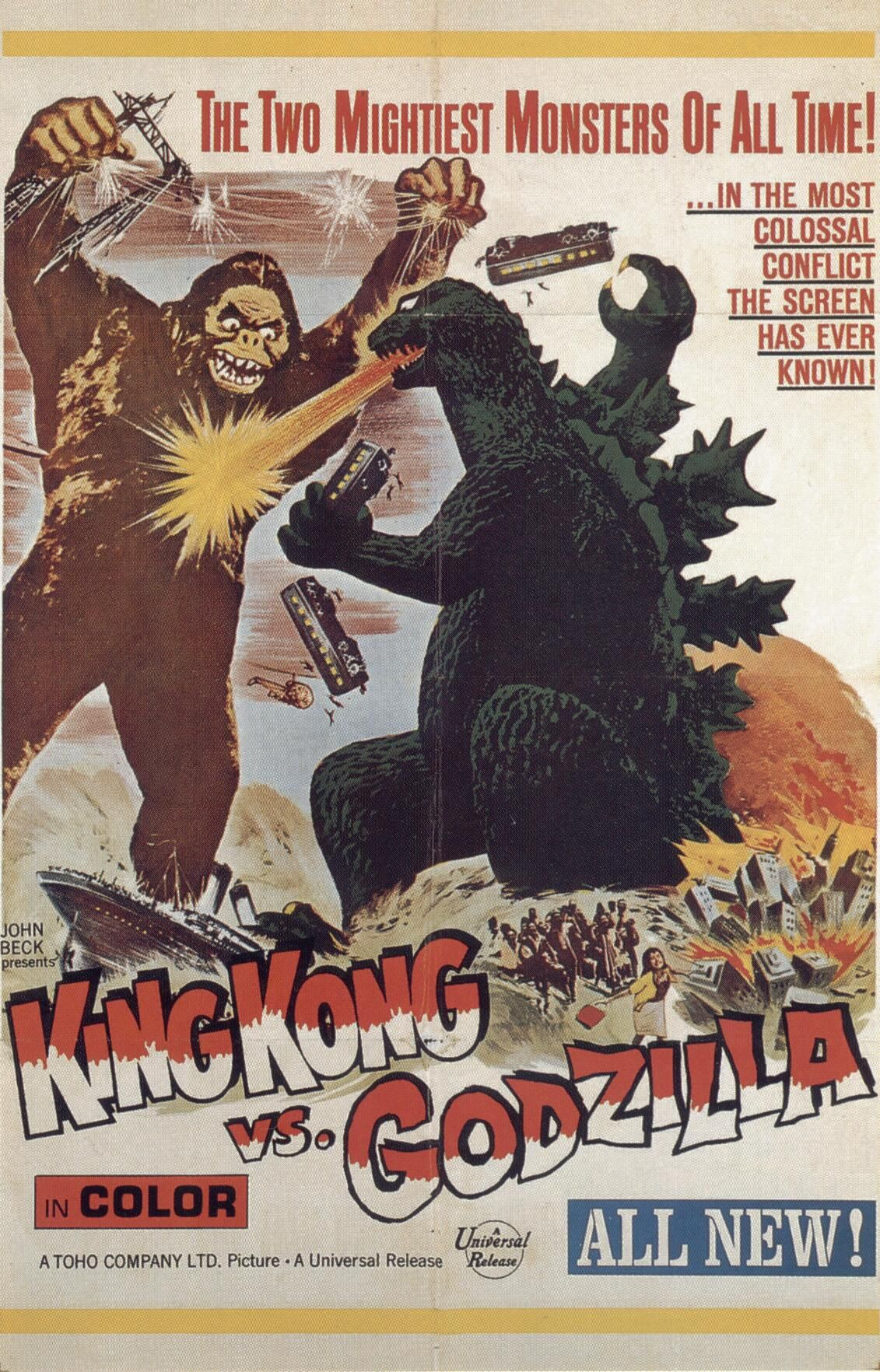 King Kong Vs Godzilla 1962 King Kong Vs Godzilla Movie Posters Vintage Science Fiction Movie Posters