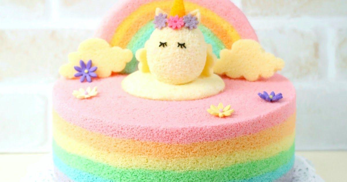 Rainbow Chiffon Cake Unicorn Rainbow Chiffon Cake Unicorn Chiffon Cake Rainbow Unicorn Chiffon Cake Chiffon Cake Cake Recipe For Chiffon Cake