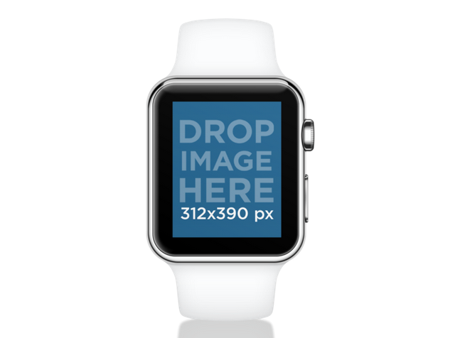 Placeit Mockup Of A White Apple Watch With A Transparent Background Apple Watch Sport Apple Watch Black Apple