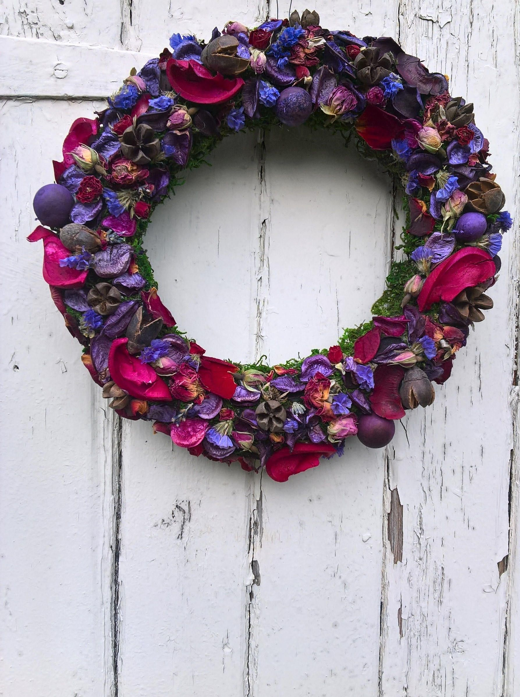 Scented Dried Flower Wreath Christmas Wreath Wedding Wreath