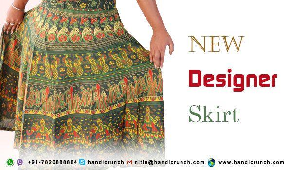 Designer Skirts with Rajasthani elephant print
