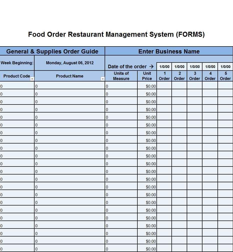 Sample Bar Inventory Spreadsheet Budget Template Restaurant Order Pantry Budget