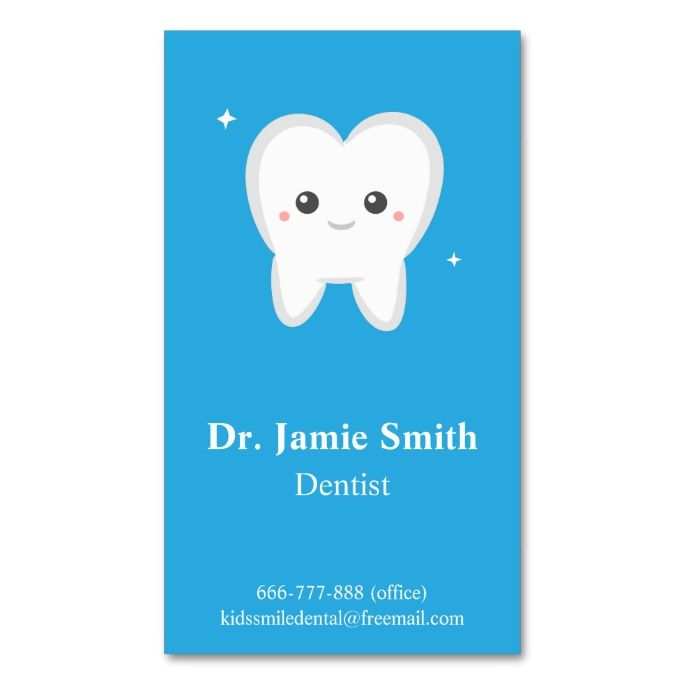 Tooth, Kids Dental, Business and Appointment Cards | Dental ...