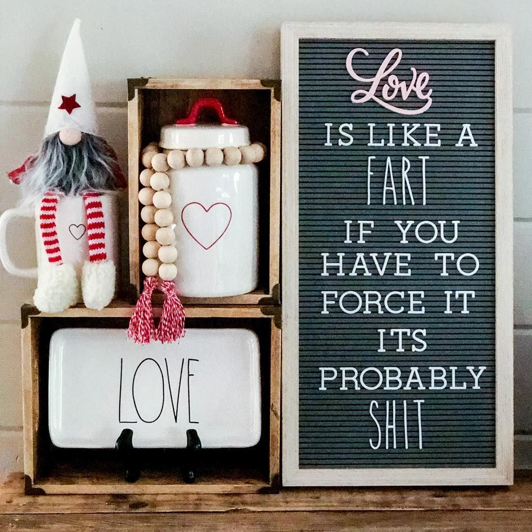 Funny Valentines Day Letter Board And Rae Dunn 3 Pinterest