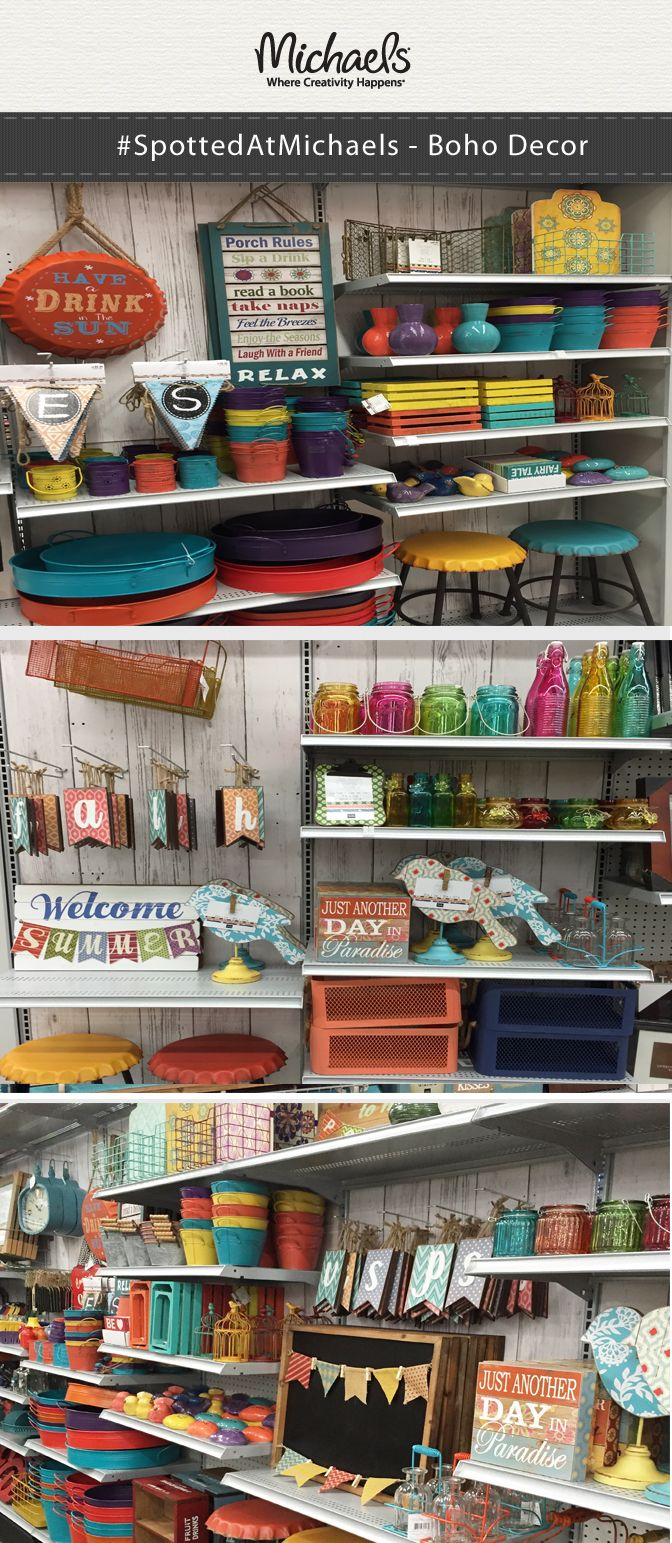 Bring Some Boho Style To Your Home Decor! Visit Your Local Michaels Store  For Colorful Bohemian Inspired Decor For Your Home, Patio Or Summer Parties.