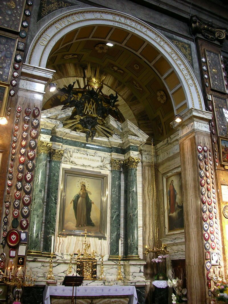 Sant Andrea Delle Fratte Cappella Madonna Miracolosa Basilica Di Sant Andrea Delle Fratte Roma Madonna Miracoloso Roma