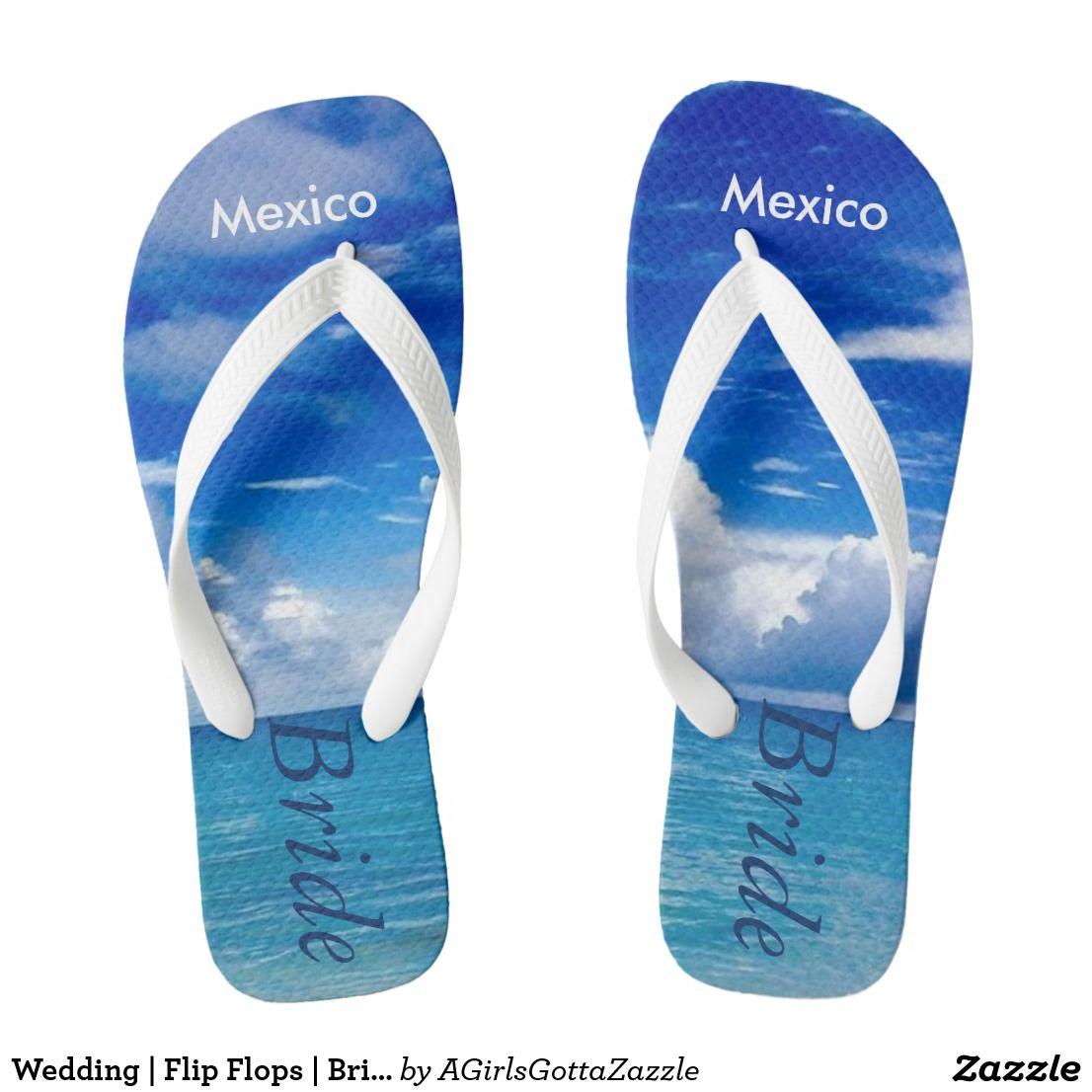 Wedding   Flip Flops   Bride Name  Blue Ocean   Wedding ...