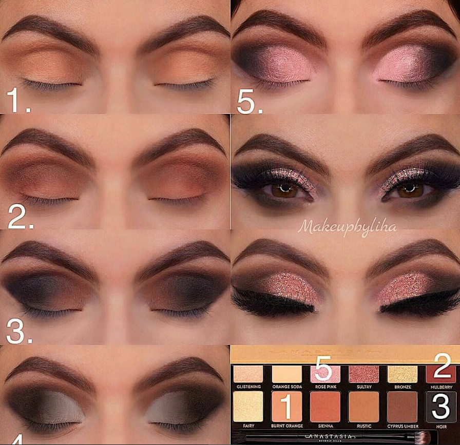 matte pink eyeshadow looks ideas step by step for beginners