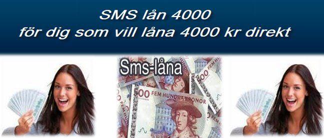 sms lån 4000 direkt