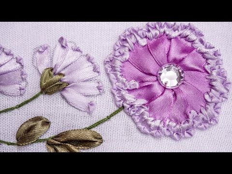 Hand Stitches Tutorial Long And Short Stitch Beautiful Flower