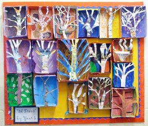 Group art project ideas 3d trees art project by year for 3d art projects
