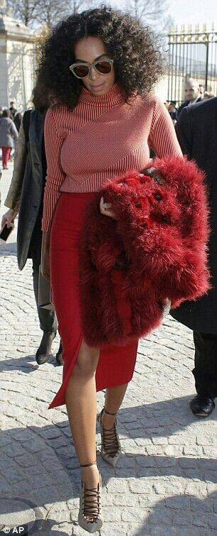 Solange Slayed in Red.