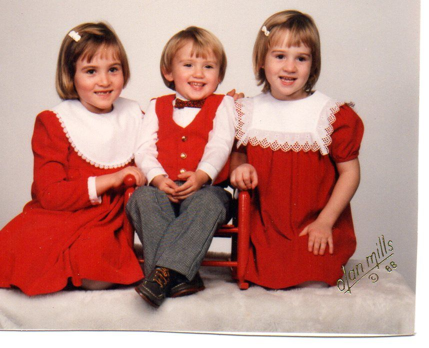 Christmas 1987 - Lindsey, Betsy, Alex