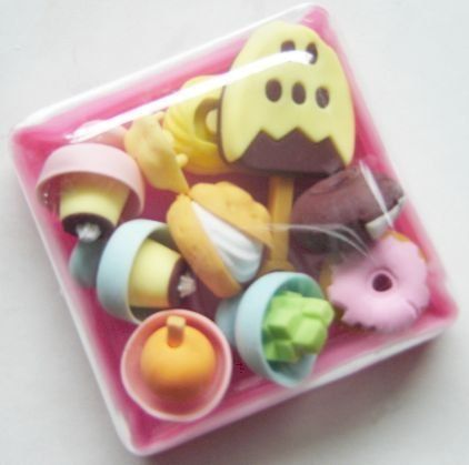japanese ice cream desserts food erasers in plastic bento box eco friendly party favors by dream made in japan 6 25 assorted dessert erasers in box