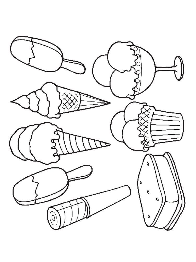 Ice Cream Coloring Pages Online Below Is A Collection Of Easy Ice Cream Coloring Page Which You Ice Cream Coloring Pages Coloring Pages Summer Coloring Pages