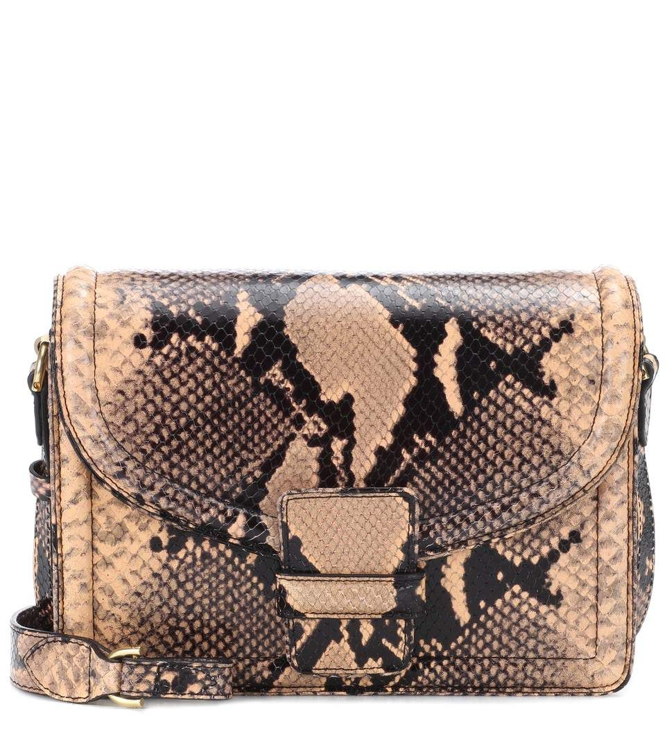 Dries Van Noten Crinkled Metallic Leather Chain Shoulder Bag 1Yvjp4E