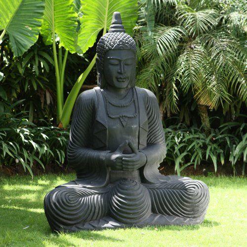 Large Garden Statues Praying Thai Buddha Stone Sculpture Statues Sculptures Online Http Www Amazon Co Uk Dp B00a00b4q Buddha Garden Garden Statues Buddha