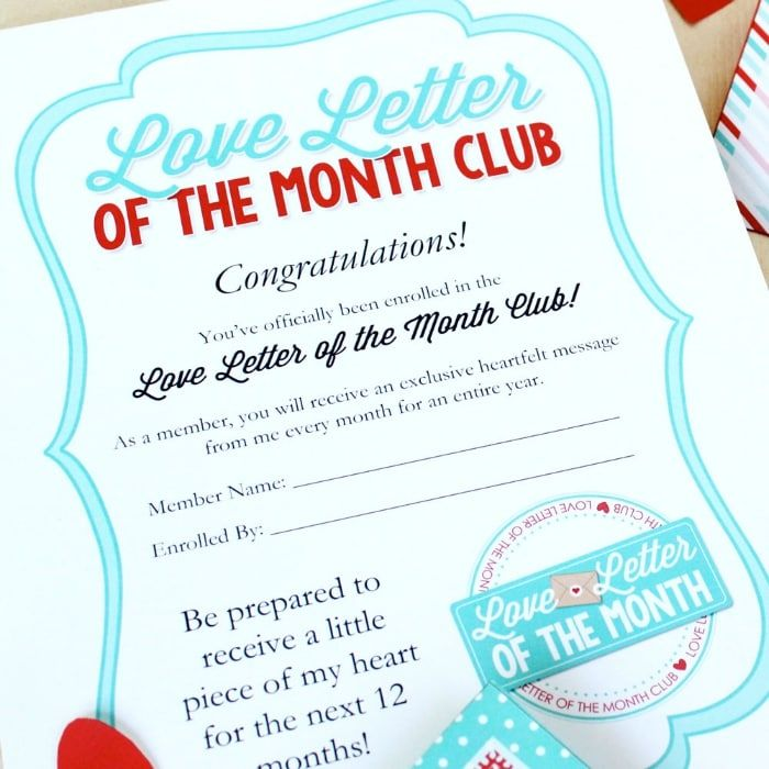 Love Letter of The Month Club PRESCHOOL crafts Pinterest - love letter to my husband