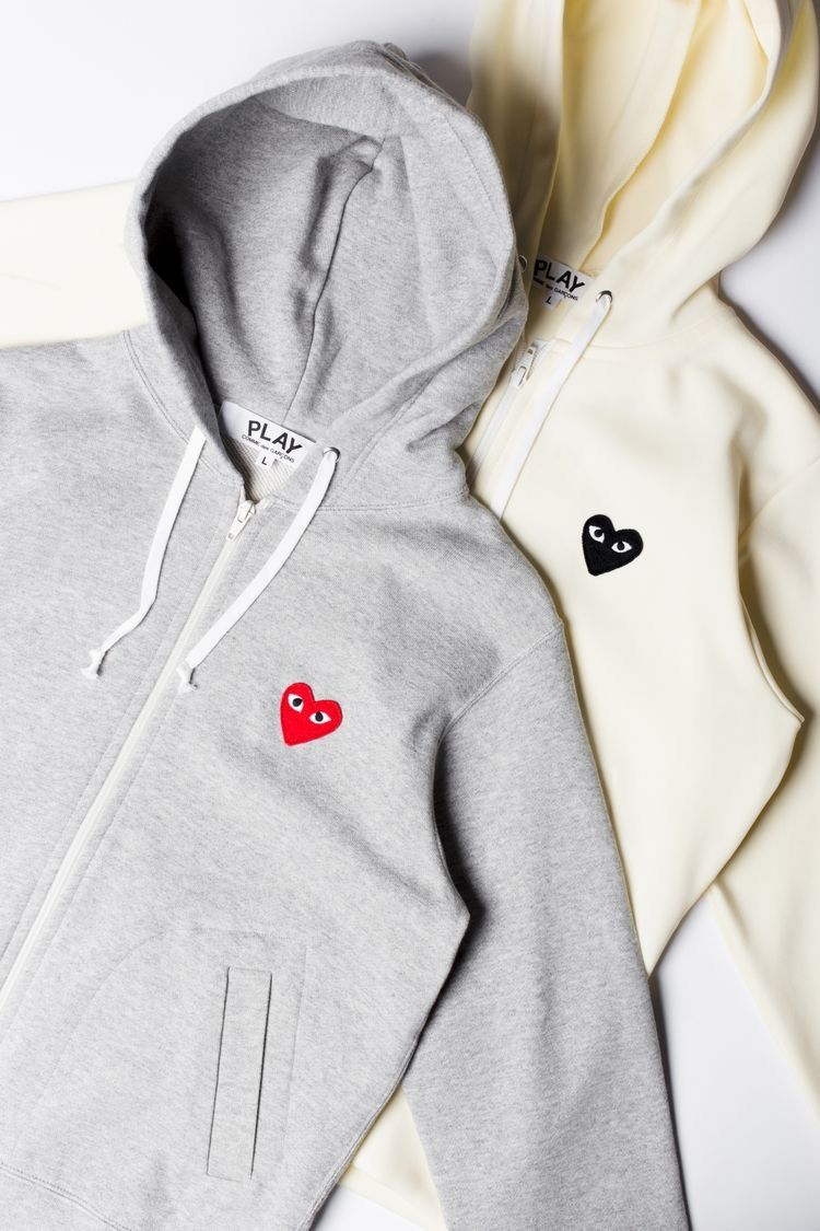 Commes Des Garcons Play Hoodies Womens Womens Fashion Inspiration Comme Des Garcons Hoodie