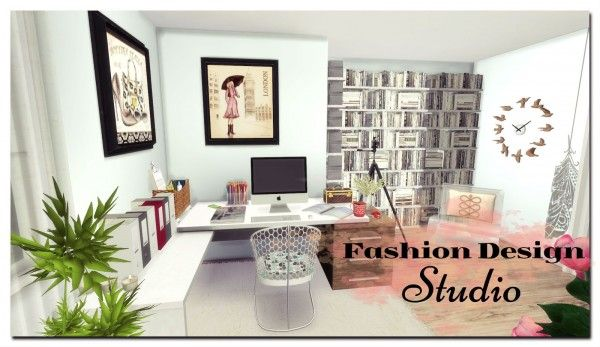 Dinha Gamer Fashion Design Studio Sims 4 Downloads Fashion Designer Studio Studio Room Design