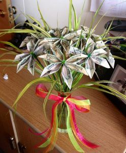 Blume Geldscheine Falten Als Einen Frohlichen Blumenstrauss