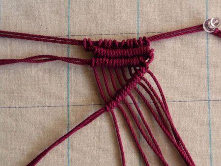 『斜め巻き結び』 the basic knot (diagonal)