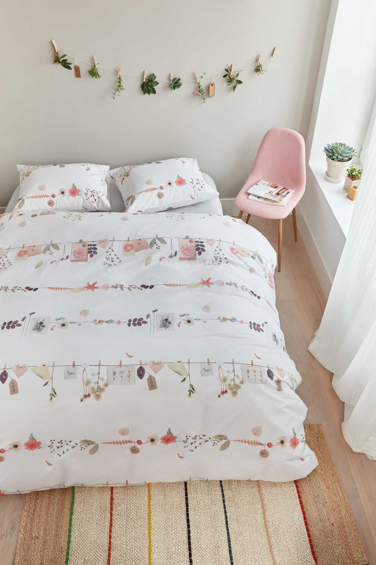 Feminity freshness and romance Floral duvet cover collection