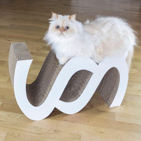 Stylish Cat beautiful & stylish cat scratcher / modern design / recycled