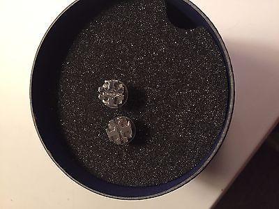 Tory Burch Logo Silver Earrings - http://elegant.designerjewelrygalleria.com/tory-burch/tory-burch-logo-silver-earrings/
