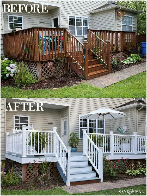 All Decked Out Total Deck Makeover Sand And Sisal Deck Makeover Diy Deck Building A Deck