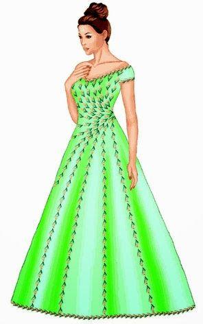 Molde de costura para vestido evasé y corte princesa. Entra y te ...