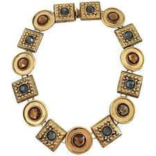 Ben-Amun Signed Statement Runway Necklace Collar Necklace